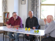 Bob, John and Cliff enjoying lunch before the AGM