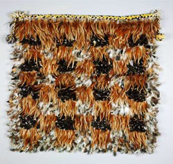 Kahu huruhuru (feather cloak), woven about 1950, gifted to Chairman Mao Zedong by Korokī, the 5th Māori King of Aotearoa New Zealand. Courtesy of National Museum of China, 2012