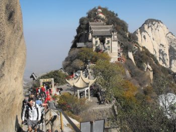 Temples near the summit of Huashan (China Mountain), Shaanxi province