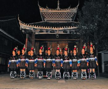Dong performers, Zhaoxing village, Guizhou province