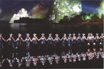Miao dancers - Liusanjie Spectacle on the River Li, Yangshuo, near Guilin