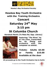 Havelock North Concert Flyer 24 May 2014