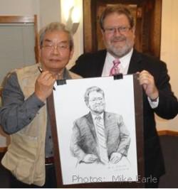 Bill Dalton & artist Deng Bangzhen