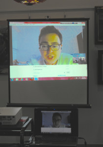 A first for the Society - Skype session with our first Youth Intern, Charles Rowe, in Beijing