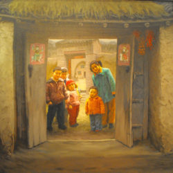 'Welcoming family' by Deng Bangzhen, exhibited at the Conference