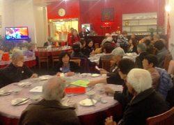 Hamilton branch members enjoy their He Ming Qing Scholarship fund-raising dinner, July 2014