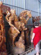Guan Gong (or Guan Yu) on horseback
