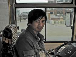 Our friendly bus driver of No. 89 bus (from Hwa Nan College into town