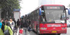 Taking a bus in China ‐ Fuzhou, Fujian province