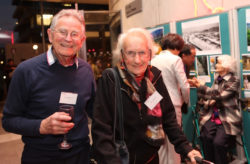 Cecil Fowler with Bill Willmott, at 60th Anniversary National Society Conference, Auckland 2012