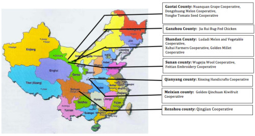 Chinese Co-ops, Location Map_sm