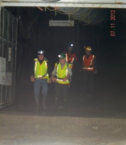 Dave Feickert (Left) exiting the Pike River mine