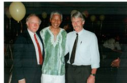 Dave Feickert with Arthur Scargill meeting Mandela in South Africa, as part of an NUM delegation