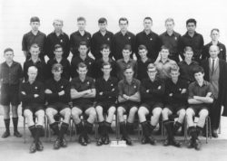 Dave is front-row, 3rd from left, with his fellow students at