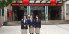 Young Ambassadors from Western Heights High School, Rotorua, report on their project visit to Nanchang