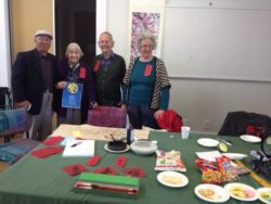 Arts Village Open Day. Mr. Cheng helping promote the Rotorua Branch China Friendship Soc.