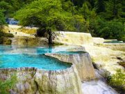Pools in Huanglong National Park