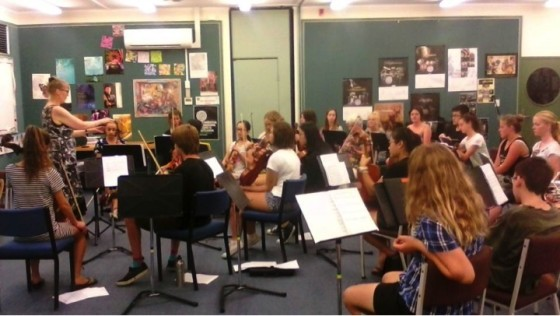 Hawkes Bay Youth Orchestra practicing