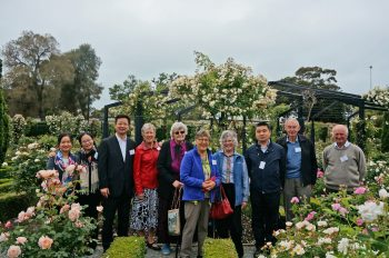 Delegation visits Rose Gardens