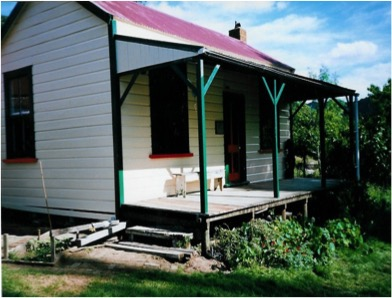 The freshly repainted whare in 2002