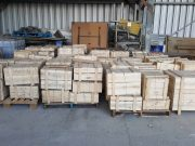 Just a few of the 174 boxes (8 tonnes) of traditional roof tiles sent from Changchun for Masterton's Chinese Pavilion, yet to be built…