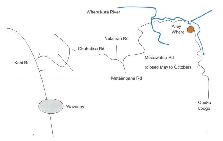 Driver's Directions to Rewi Alley Whare