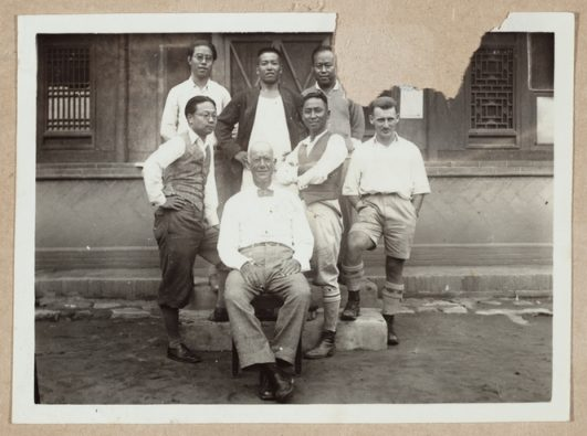 Sinza Fire Station HQ staff, Shanghai, China. Wright, Kathleen Mary, d 1992 :Photographs of Rewi Alley. Ref: PA1-f-148-208-3. Alexander Turnbull Library, Wellington, New Zealand. http://natlib.govt.nz/records/22795281