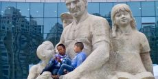 Statue of Rewi Alley with Children, Bailie Square – Lanzhou