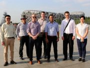 NZCFS Engineering Delegation in front of bird nest.1