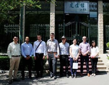 NZCFS Engineering Delegation in front of old rewi alley residence